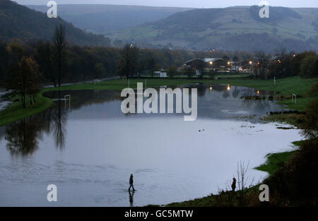 Flooding in West Yorkshire - Stock Photo