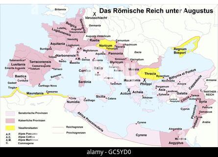 Roman Emperor map Stock Photo: 162152625 - Alamy