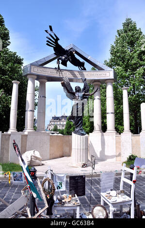 Monument commemorating the occupation of Hungary by Nazi Germany, Budapest Hungary - Stock Photo