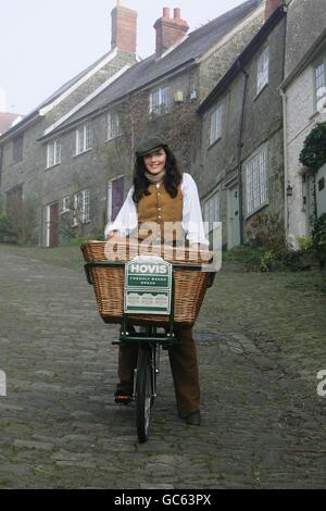 Victoria Pendleton Hovis campaign - Stock Photo
