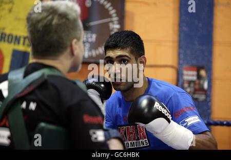 Boxing - Amir Khan Media Workout - Gloves Community Centre - Stock Photo
