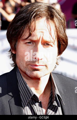David Duchovny at the World Premiere of 'The X-Files: I Want To Believe' held at the Grauman's Chinese Theater in - Stock Photo