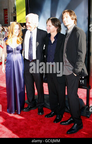 Chris Carter, Gillian Anderson and David Duchovny at the Los Angeles Premiere of 'The X-Files: I Want To Believe' - Stock Photo