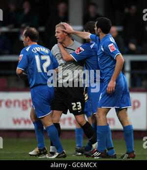 Soccer - Coca-Cola Football League Two - Hereford United v Notts County - Edgar Street - Stock Photo