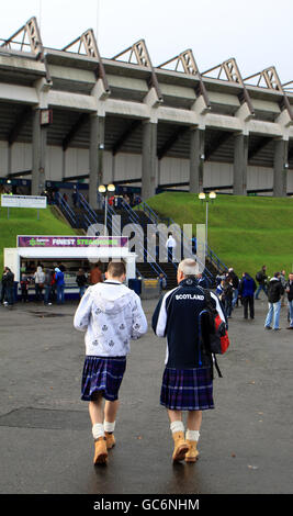 Rugby Union - 2009 Bank Of Scotland Corporate Autumn Test - Scotland v Fiji - Murrayfield - Stock Photo