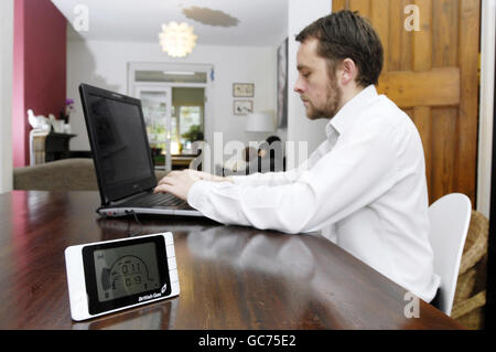 Energy monitor - Stock Photo