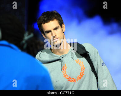 Tennis - Barclays ATP World Tennis Tour Finals - Day Five - o2 Arena - Stock Photo