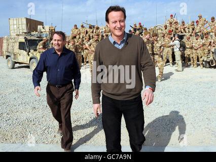 Cameron visits Afghanistan - Stock Photo