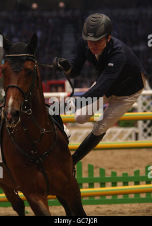 Equestrian - London International Horse Show - Day Six - Olympia Exhibition Centre - Stock Photo