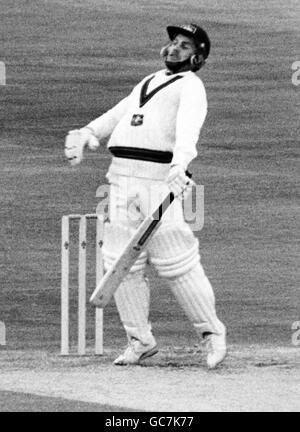 Cricket - Australia in British Isles 1981 (1st Test) - England v Australia - Second Day - Trent Bridge, Nottingham - Stock Photo