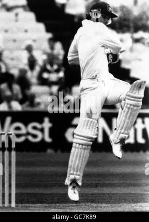 Cricket - Australia in British Isles 1989 (3rd Test) -England v Australia - Second Day - Edgbaston, Birmingham - Stock Photo