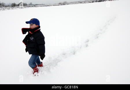 Winter weather - Stock Photo