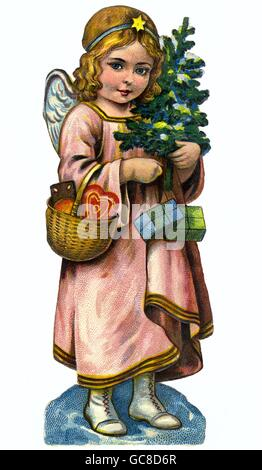 Christmas, the infant Jesus, scrap-picture, Germany, circa 1912, Additional-Rights-Clearences-NA - Stock Photo