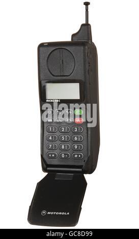 technics, telephone, mobile radio, Motorola Micr TAC International 5200 mobile phone, 290g, height folded: 163mm, - Stock Photo