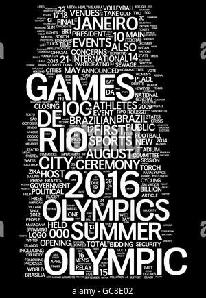 Olympic Games collage of word concepts - Stock Photo