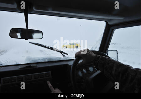 Winter weather Jan12th - Stock Photo