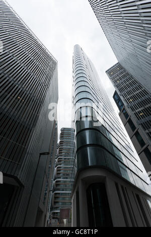 Wide-angle view looking up at the new Canaletto Development, 257 City Road, London EC1V 1AD - Stock Photo
