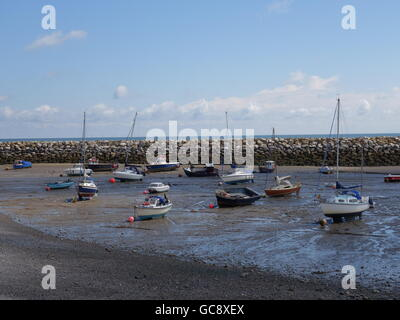 Beached yachts and boats - Stock Photo