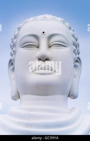 The giant Buddha of the Long Son Pagoda - Nha Trang - South Vietnam - Stock Photo