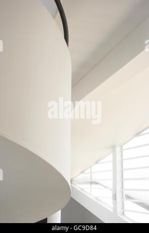 Inside the hall of Le Corbusier's Villa Savoye in Poissy near Paris - Stock Photo