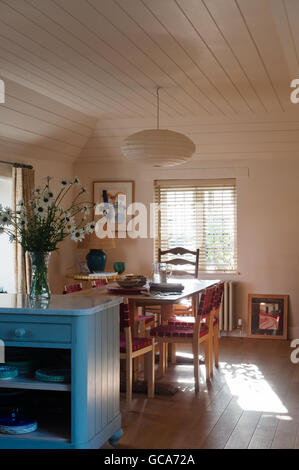 Open Plan Kitchen Dining Room The Chairs Are By Alvar Aalto And Marble Topped