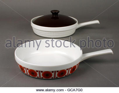 household, dishes, cookware, set 'Cordoflam', porcelain, VEB Porzellanwerk Freiberg, 1966/1967, Design von Hans - Stock Photo