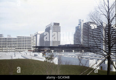 geography / travel, Germany, Bavaria, Munich, buildings, Olympic Village, February 1972, Additional-Rights-Clearences - Stock Photo