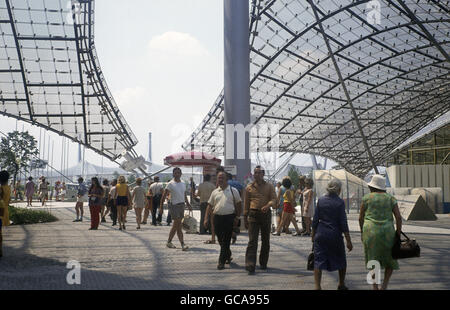 geography / travel, Germany, Bavaria, Munich, buildings, Olympic Grounds, canopy, 1972, Additional-Rights-Clearences - Stock Photo