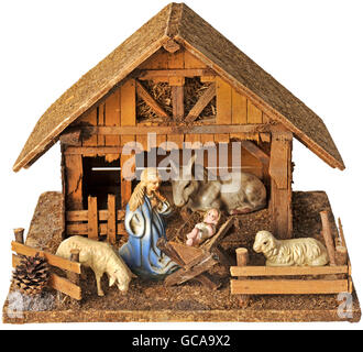 Christmas, cribs, Nativity scene, Germany, circa 1956, Additional-Rights-Clearences-Not Available - Stock Photo