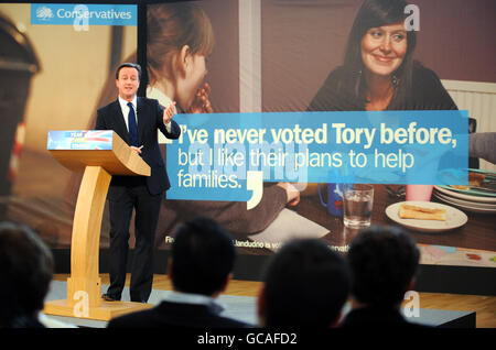 Conservative poster campaign - Stock Photo