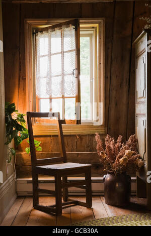 Interior Of 18th Century French Regime Cottage Style Residential Home Quebec Canada