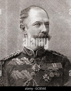 Major-General Sir Herbert Stewart, 1843 – 1885.  British soldier. - Stock Photo