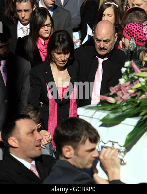 Gabrielle Grady funeral - Stock Photo