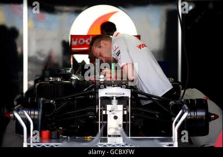 Motor Racing - Formula One World Championship - Bahrain Grand Prix - Bahrain International Circuit - Stock Photo