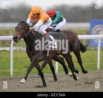 Horse Racing - Kempton Park Racecourse - Stock Photo