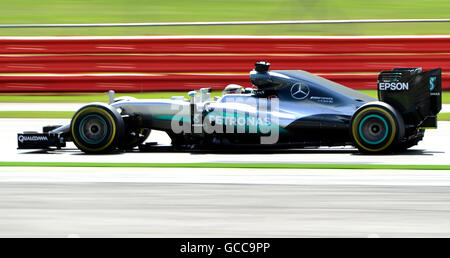 Silverstone , Northants, UK. 8th July, 2016. 08.07.2016 British F1 Grand Prix Silverstone UK Open practice day Lewis - Stock Photo