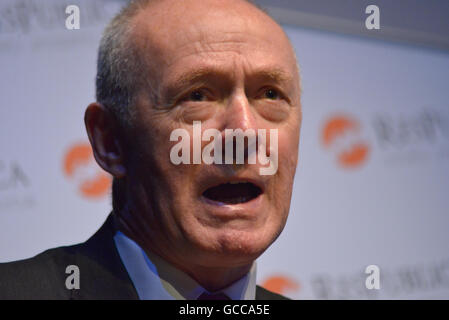 Salford, UK. 8th July, 2016. Sir Richard Leese, leader of Manchester City Council, speaking at the 'Finding True - Stock Photo