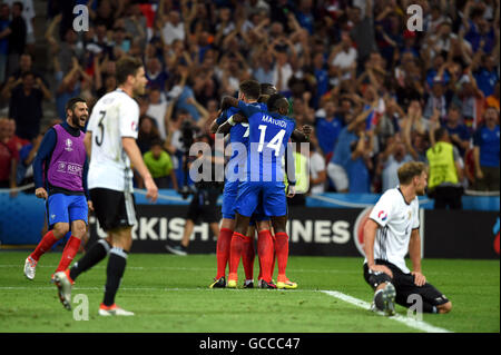 France team group (FRA), JULY 7, 2016 - Football / Soccer : France team group celebrate their side second goal by - Stock Photo