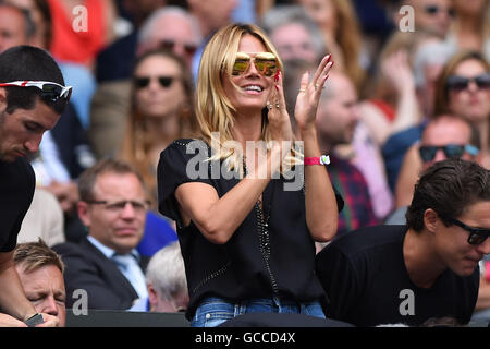 London, UK. 8th July, 2016. 08.07.2016. All England Lawn Tennis and Croquet Club, London, England. The Wimbledon - Stock Photo