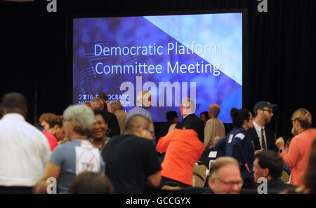 Orlando, Florida, USA. 9th July, 2016. People mingle during a break at the 2016 Democratic National Convention Platform - Stock Photo