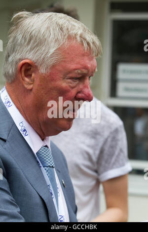 Wimbledon London, UK. 9th July 2016.  Former Manchester United manager Sir Alex Ferguson attends the final American - Stock Photo