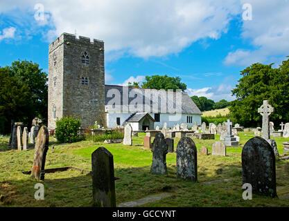 St Cewydd's Church, Disserth, near Llandrindod Wells, Powys, Wales UK - Stock Photo