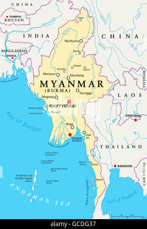 Map Of India With Rivers And Lakes Stock Photo Alamy - Lakes in india map