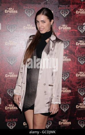 Amber Le Bon arriving at the RPJ Crohn's Foundation Rock Ball at The Hurlingham Club in west London.