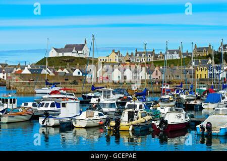 Fishing village, Findochty Harbour, Moray Firth, Scotland, United Kingdom - Stock Photo