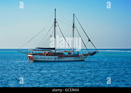 Sailing boat, two masts, Red Sea, Egypt - Stock Photo