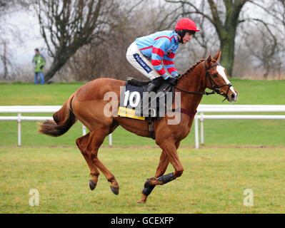 Horse Racing - Midlands Grand National - Uttoxeter Racecourse - Stock Photo