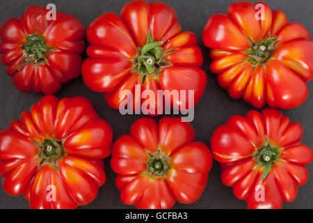 Heirloom Tomatoes Background - Stock Photo