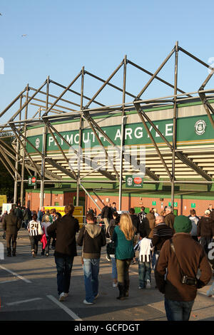 Home Park Football Ground The Of Plymouth Argyle FC Stock