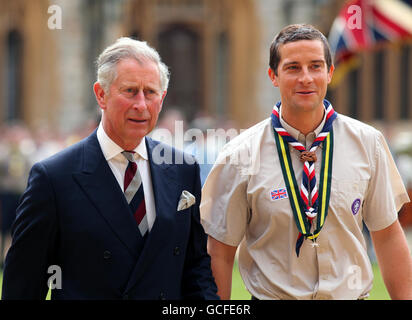 Charles honours top scouts - Stock Photo